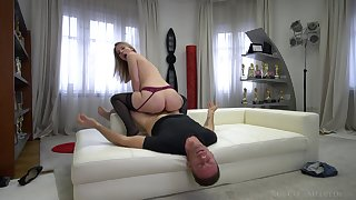 Kiara Paladin spreads her tight asshole be advisable for a fat cock