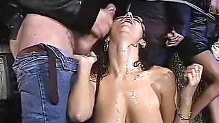 Chesty Italian cougars drain jizz from large spears everywhere antique pornography vid free porn